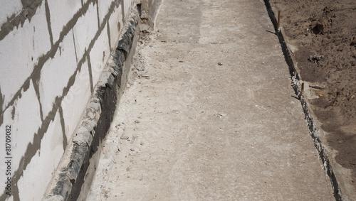 Leinwanddruck Bild Foundation waterproofing, vapor barrier.