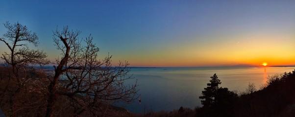 Magic quiet sunset