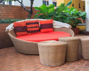 Rattan armchair furniture