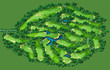 Golf course layout - 81710659