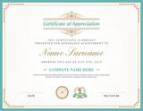 Vintage retro art deco frame certificate background template - 81710699