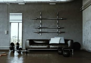 Fitnessraum mit Sofa