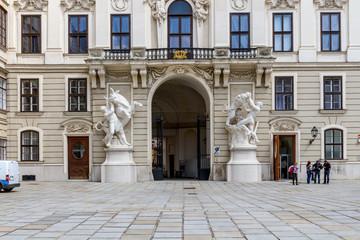 Крыло Императорской канцелярии. Хофбург. Вена. Австрия