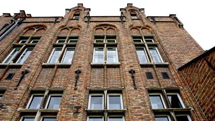 Historical facade in Brugge Belgium