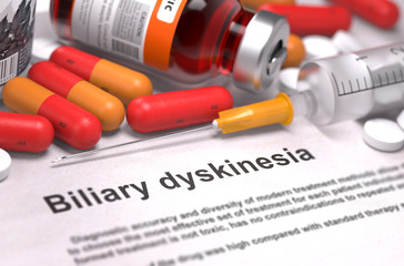 Diagnisis - Biliary Dyskinesia. Medical Concept.