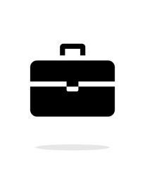 Suitcase simple icon on white background.