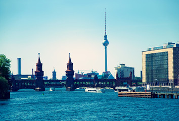 Berlin Skyline Oberbaumbruecke