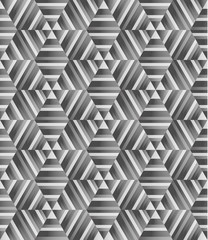 Seamless pattern honeycomb shape, monochrome