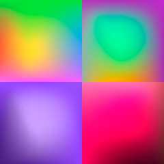 Set of blurred colorful backgrounds for inforraphic background