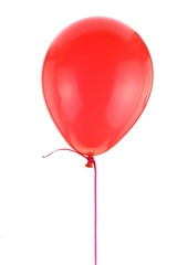 Red balloon isolated on white background