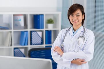 Confident Vietnamese doctor