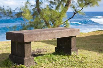 banc de pierre au bord de l'océan Indien, Réunion