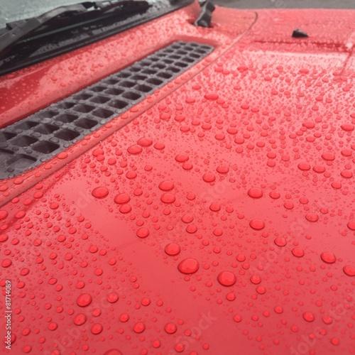 洗車後の雨