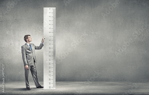 Leinwanddruck Bild Measure your success