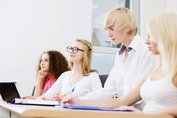 Students at lesson