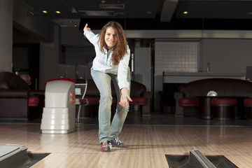 At bowling club