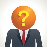 Business man question head poster