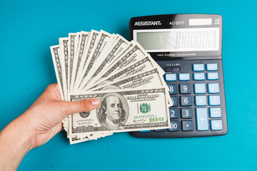 counting money and saving finances