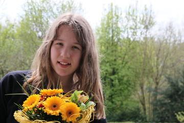 Mit Blumen gratulieren