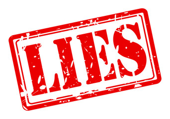 Lies red stamp text