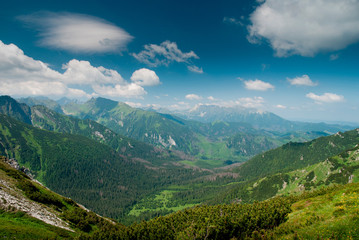 View into a valley in Tatra mountines