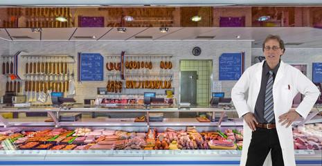 Fleischereigeschäft mit Chef
