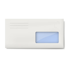 White DL envelope with window for address isolated