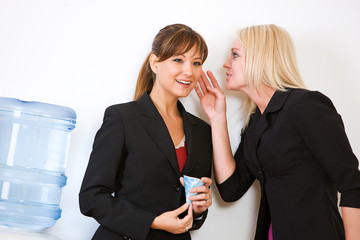 Business: Women Gossiping Around the Water Cooler
