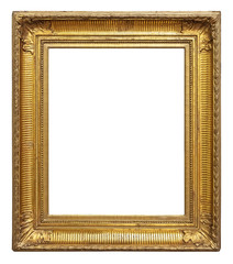 Vintage gold color picture frame