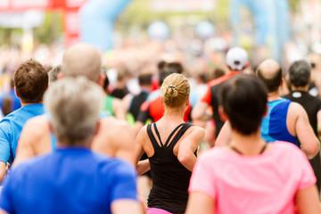 Zieleinlauf Marathon