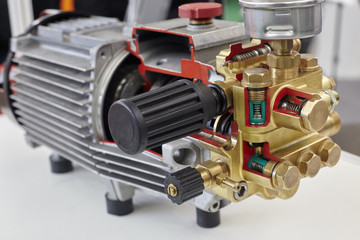 Opened electric motor