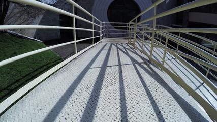Bridge near building