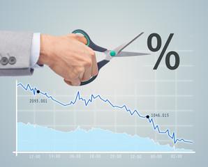 financial and economical crisis concept