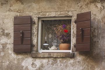 Vieille fenêtre typique Croatie