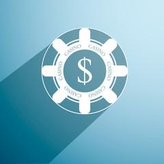 poker chip. icon. vector