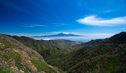 La Gomera, view towards Teide