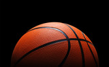 Fototapeta Sport - Basketball against black © chones