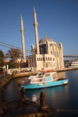 Ortakoy Mosque and The Bosphorus Bridge in Istanbul