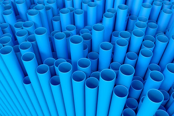 3d rendered blue pipes