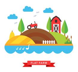 farm countryside vector background
