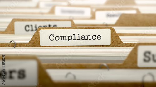 Compliance Concept with Word on Folder. - 81721093