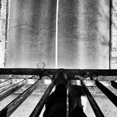 On the bridge, bird perspective.