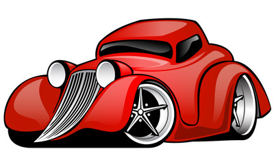 Red Hot Rod Coupe