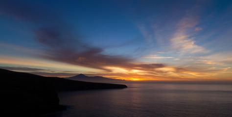 spectacular sunrise over Teide