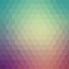 Green and purple hexagon pattern background