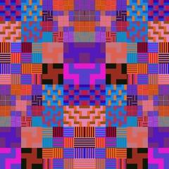 Purple geometric abstract pattern