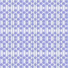Bluish pattern with flax flower shape