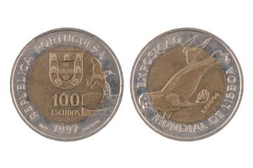 """""""100 escudos"""" Portuguese coin"""