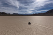 Sailing Stone on a cracked dry lake floor - 81723687