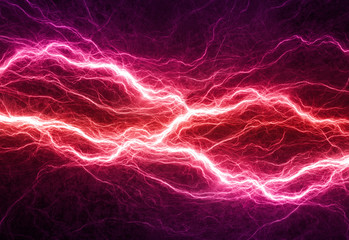 Fantasy red and purple lightning, electrical background